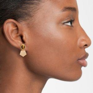 Madewell Tigers Eye Drop Earrings